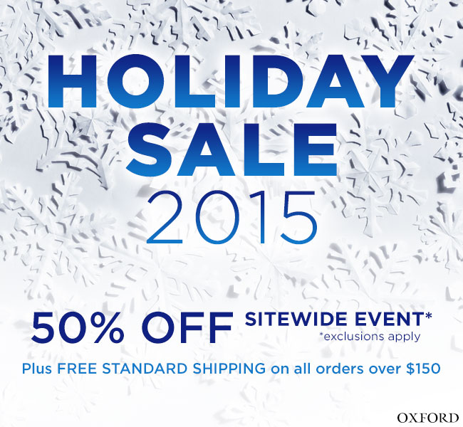 Celebrate the Holidays with 50% off sitewide plus FREE standard shipping on all orders over $150*